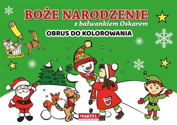 Boże Narodzenie z ... - Obrus do kolorowania