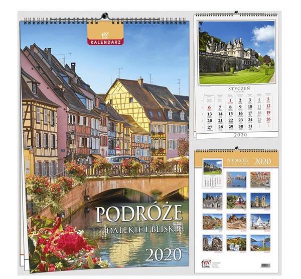 Kalendarz 2020 13 Plansz B3 - Podróże EV-CORP