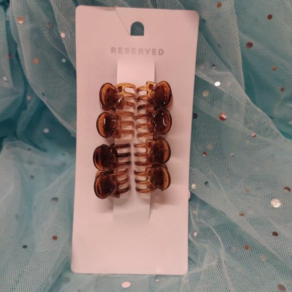 Markowe spinki żabki Reserved brązowe-27273