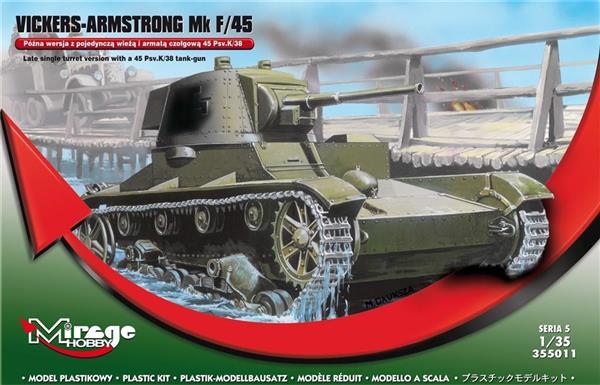 Czołg z wieżą i armatą Vickers-Armstrong Mk F/45