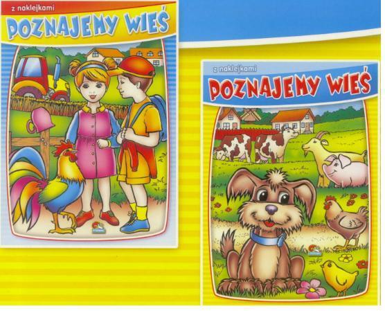 (019) Poznajemy wieś. Malowanki z naklejkami MIX