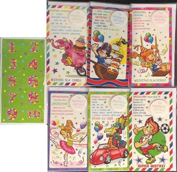 Karnet Kids DL + koperta mix wzorów