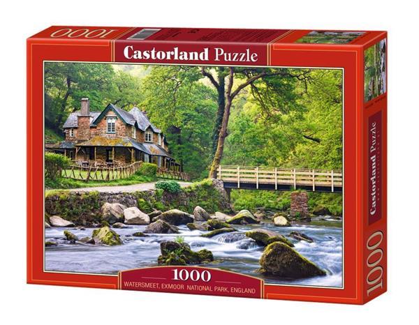 Puzzle 1000 Domek nad potokiem - Anglia CASTOR