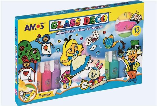 Farby witrażowe 13 kolorów AMOS