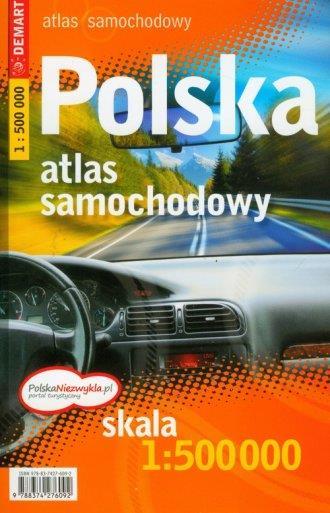 Polska atlas samochodowy 1:500 tys OUTLET