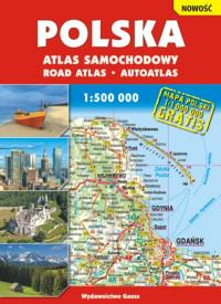 POLSKA ATLAS SAMOCHODOWY 1:500 000 BR OUTLET