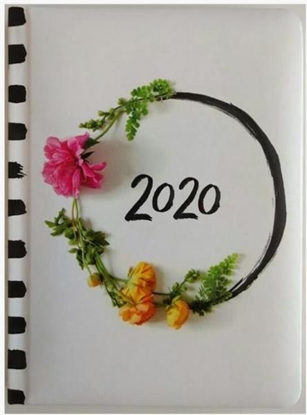 Kalendarz tygodniowy B6 2020 Zdjęcie kwiatów ALBI