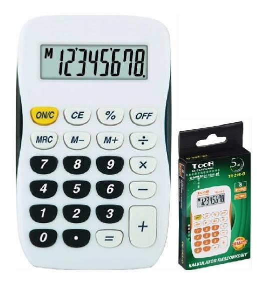 Kalkulator kieszonkowy 8-pozycyjny TR-295-K TOOR