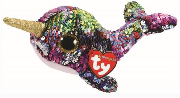 Beanie Boos Calypso - Cekinowy Narwal 15 cm