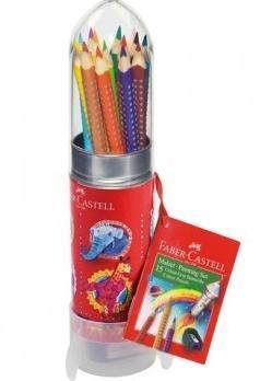 Kredki Grip 15 kolorów rakieta FABER CASTELL