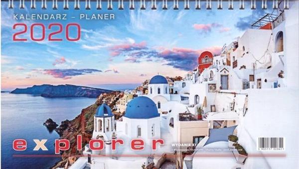 Kalendarz 2020 Biurowy Explorer TELEGRAPH