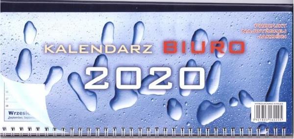 Kalendarz 2020 Biurkowy leżący z podkładką ANIEW