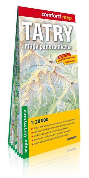 Comfort! map Tatry. Mapa panoramiczna 1:28 000