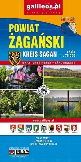 Plan miasta - Żagań/ Powiat Żagański 1:12 000