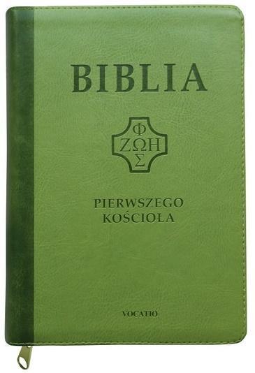 Biblia pierwszego Kościoła z paginat. jasnozielona