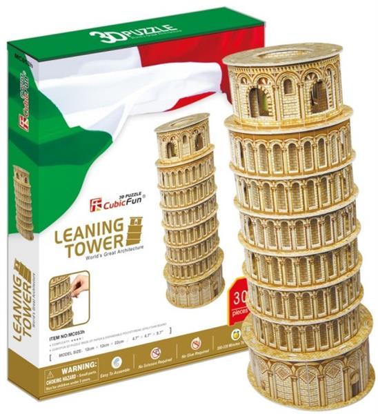 Cubicfun Puzzle 3D 30 elementów. Krzywa Wieża