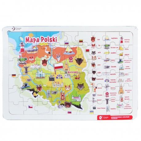 Drewniane puzzle - mapa Polski outlet