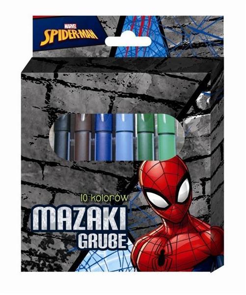 Mazaki grube Spiderman 10 kolorów