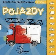 Książeczka - kolorowanka. Pojazdy 3-4 lata