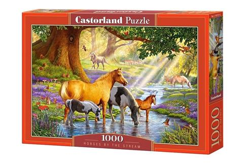 Puzzle 1000 Horses by the stream CASTOR