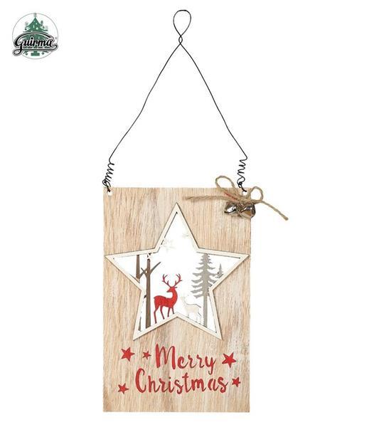 Drewniana ozdoba Merry Christmas 11x18cm