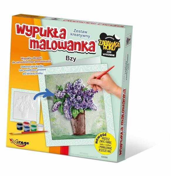 Wypukła Malowanka - Kwiaty Bzy