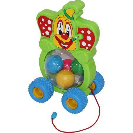 Klaun z piłeczkami do ciągania w siatce