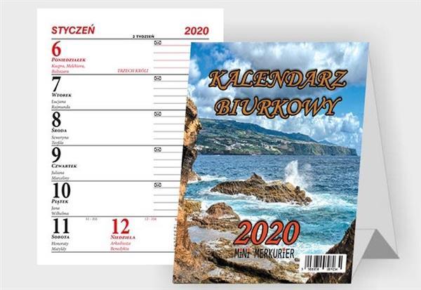 Kalendarz 2020 Biurkowy B9 Mini Merkurier BESKIDY