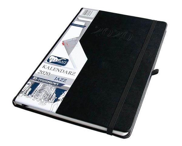 Kalendarz 2020 B5 tyg. Jazz czarny ELEFANT