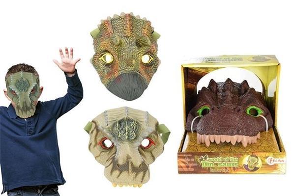 Maska dinozaura, różne rodzaje