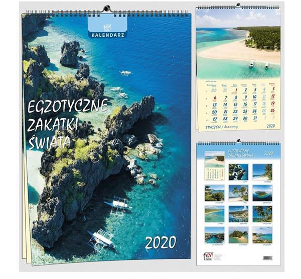 Kalendarz 2020 13 Plansz B3 - Egzotyczne zakątki