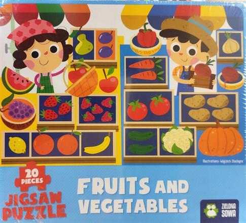 PUZZLE Fruits and Vegetables  NOWY