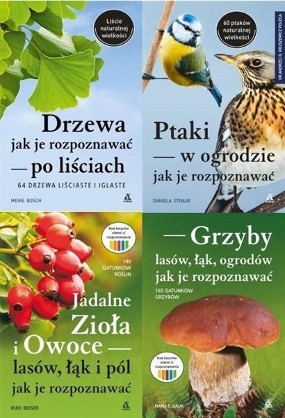 Pakiet: Ptaki/Drzewa/Grzyby/Jadalne zioła i owoce