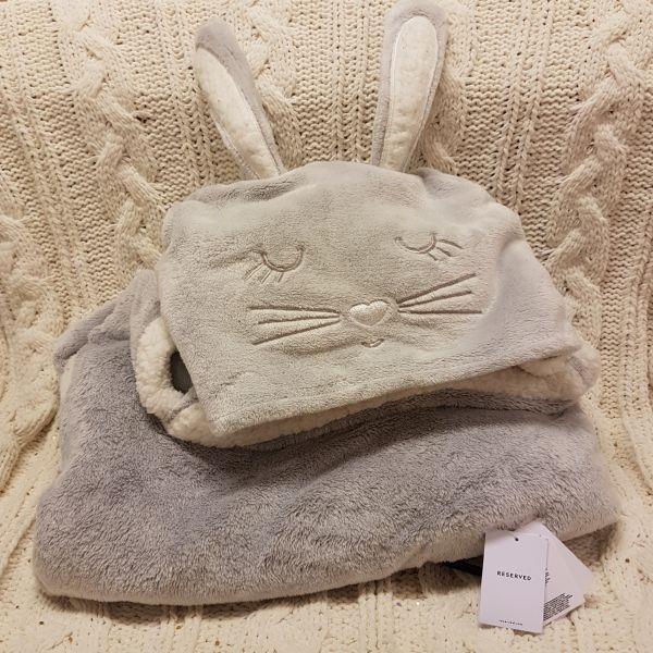 Reserved kocyk króliczek
