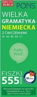 Fiszki 555 Wielka gramatyk niemiecka z ćw. A1/B2