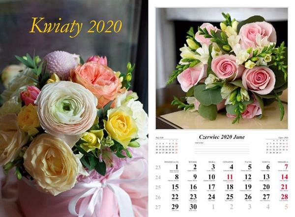 Kalendarz 2020 Kwiaty 7 planszowy RADWAN