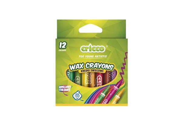 Kredki świecowe 12 kolorów CRICCO