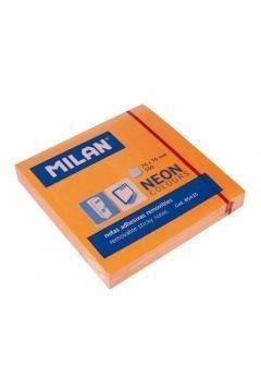 Karteczki samoprzylepne 76x76 neon.pomarańcz MILAN