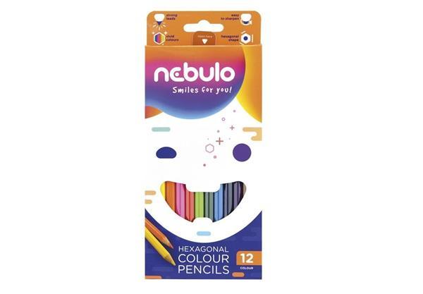 Kredki ołówkowe Jumbo 12 kolorów NEBULO