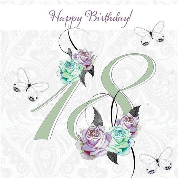 Karnet Swarovski kwadrat CL1618 Urodziny 18