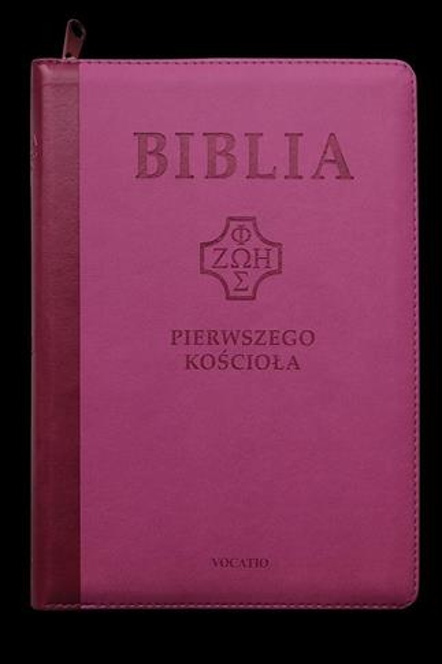 Biblia pierwszego Kościoła z paginatorami różowa