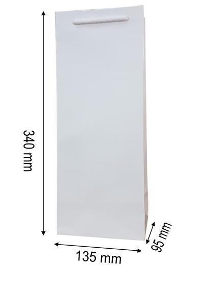 Torebka ozdobna koniak jednobarwna MERplus