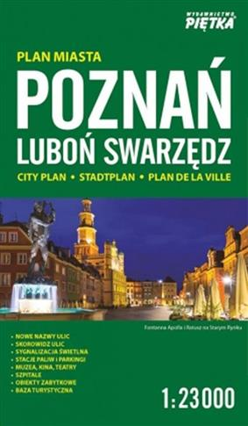 Poznań 1:23 000 plan miasta PIĘTKA