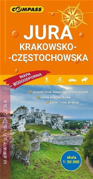 Mapa tur. - Jura Krakowsko-Częstochowska
