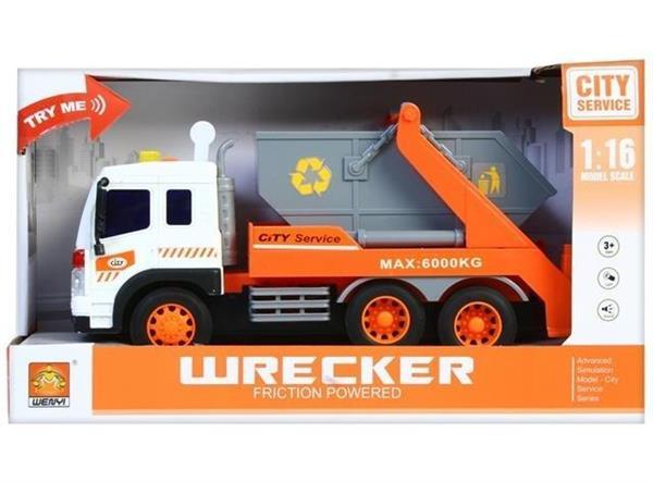 Auto ciężarowe światło/dźwięk śmieciarka