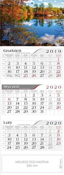 Kalendarz 2020 Trójdzielny Jesienny staw CRUX