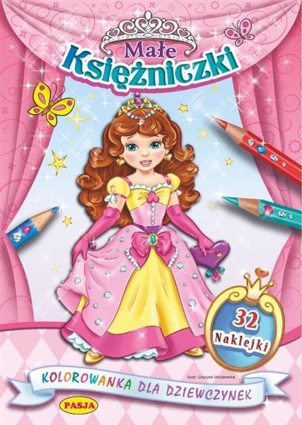 Kolorowanka dla dziewczynek - Mała księżniczka