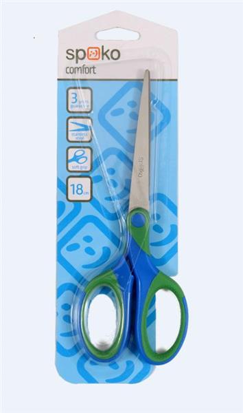 Nożyczki Comfort miękki uchwyt 18cm bls SPOKO