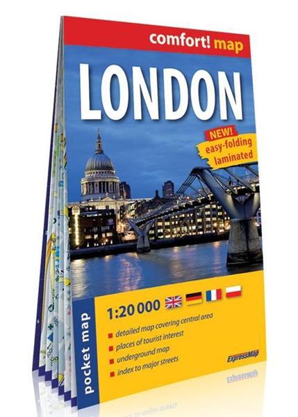 Comfort! map Londyn kieszonkowy plan miasta