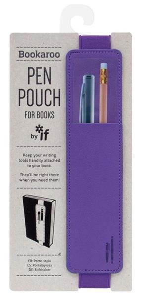 Bookaroo - uchwyt do książki na długopis fioletowy